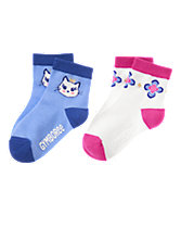 Princess Kitty & Floral Medallion Socks Two-Pack
