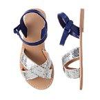 Colorblock Glitter Sandals