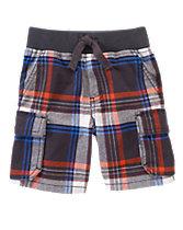 Plaid Cargo Shorts