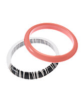 Zebra & Neon Bangles Two-Pack