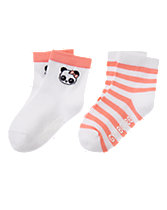 Panda & Striped Socks Two-Pack