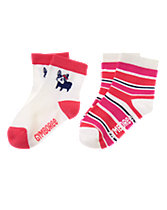 Puppy & Striped Socks Two-Pack