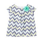 Dot Chevron Corsage Top