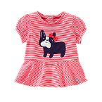 Puppy Peplum Top