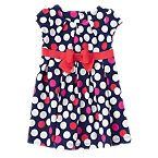 Pleated Dots Dress