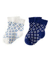 Geo Floral Socks Two-Pack