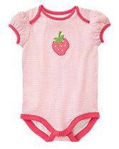 Strawberry Polka Dot Bodysuit