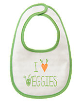 I Heart Veggies Reversible Bib