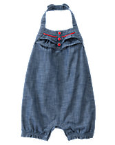 Chambray Halter One-Piece