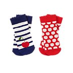 Cherry & Striped Socks Two-Pack