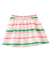 Neon Striped Skirt