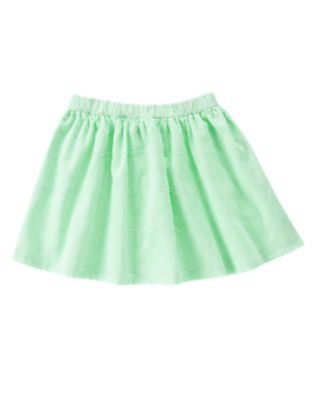 Textured Chevron and Dot Skirt