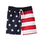 American Flag Swim Shorts