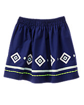 Embroidered Geo Skirt