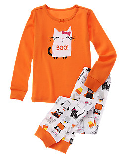 Ghostly Cat Two-Piece Gymmies®
