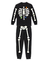 Dad Skeleton Two-Piece Pajamas