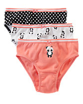 Playful Panda Underwear Three-Pack