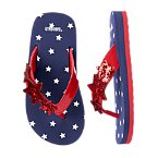 Glitter Star Flip Flops