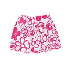 Drawn Flower Skort