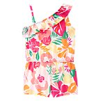 Tropical Flowers Romper