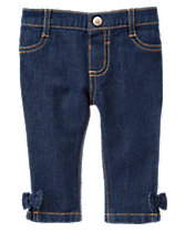 Pull-On Bow Jeans