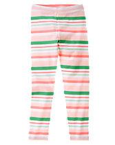 Neon Striped Leggings