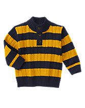 Striped Cable Sweater