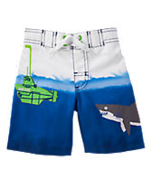 Shark & Sub Swim Shorts