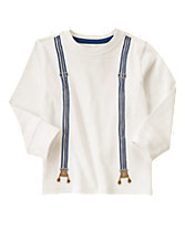 Embroidered Suspenders Tee