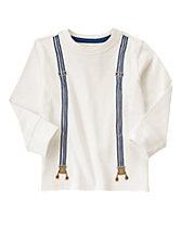 Embroidered Suspenders Tee