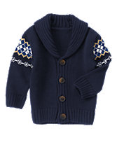 Argyle Sweater Cardigan