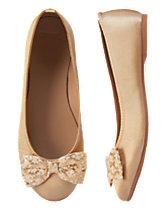 Jacquard Bow Ballet Flats