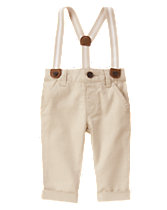 Suspender Linen Pants