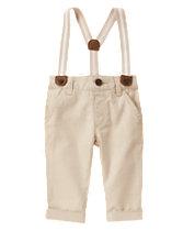 Suspender Linen Pants