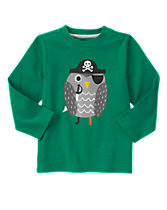 Pirate Owl Long Sleeve Tee