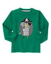 Pirate Owl Long Sleeve Tee