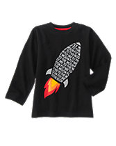 Moon Rocket Long Sleeve Tee