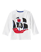 Pirate Ship Long Sleeve Tee