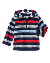 Striped Fleece Hoodie