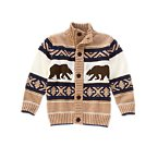 Fair Isle Grizzly Cardigan