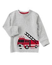 Fire Truck Long Sleeve Tee