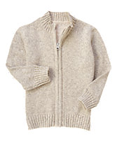 Ribbed Collar Cardigan