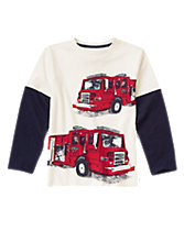 Fire Trucks Long Sleeve Tee