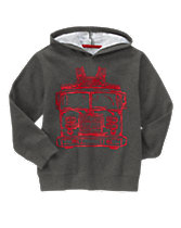 Fire Truck Hooded Pullover