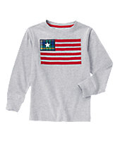 Flag Long Sleeve Tee