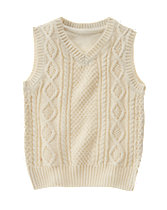 Cable Knit Sweater Vest