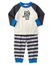 Raccoon Two-Piece Set
