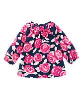 Rose Print Top