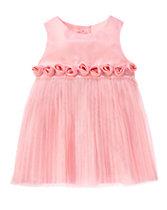 Rosette Duppioni Dress