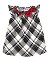 Plaid Duppioni Dress